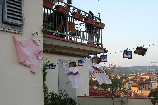 Hotel Villani: la terrazza dal basso