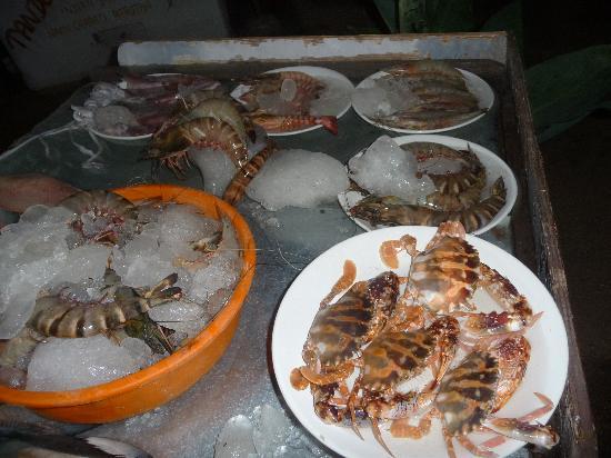 Varkala, India: свежие морепродукты