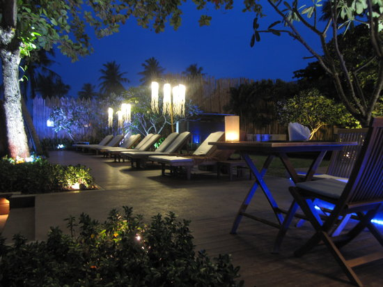 Buri Rasa Village Samui: The deck at night.