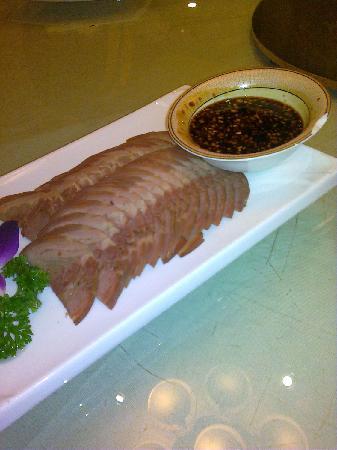 Xin Hui Xian Shi Fu : Sliced beef with dipping sauce