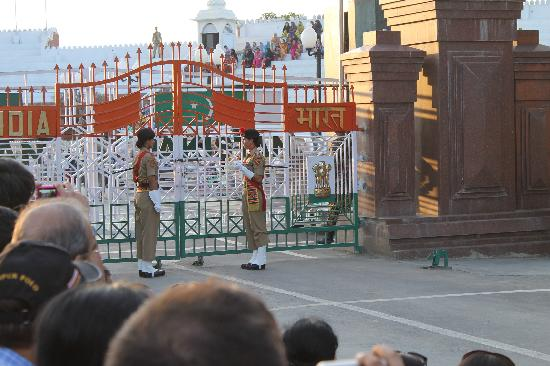 Wagah Border: smartly attired BSF ladies at the Border