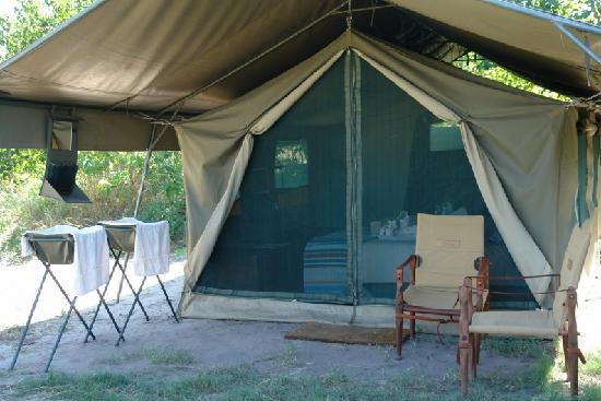Linyanti Bush Camp: The tents are walking in Meru-style tents.