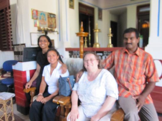 Ashtamudi Homestay: Us with our wonderful hosts - Subhash and Uma