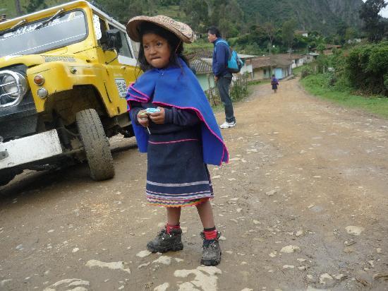 Parque Natural de Purace: niña indígena