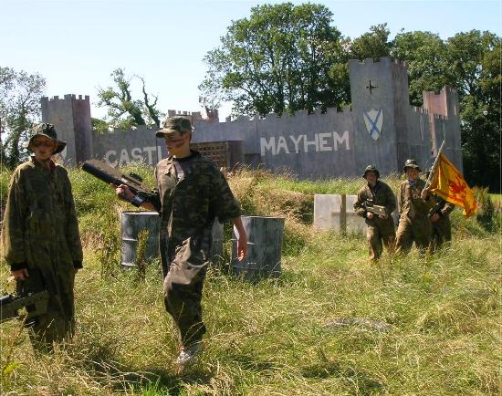 Cenarth, UK: Outdoor Laser Combat in a Massive 2-tier Castle