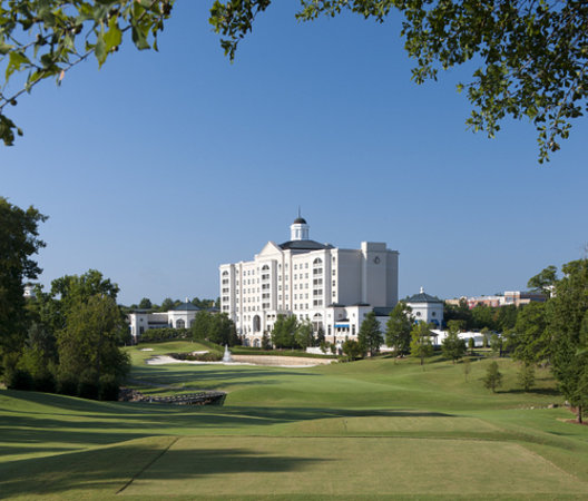 The Golf Club at Ballantyne: View from 18th Tee