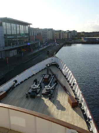 Royal Yacht Britannia: Bow view