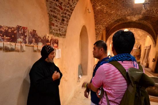 Wadi Natrun: our benevolent guide, Fr. Joaquim