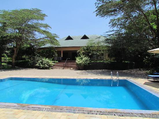 Olasiti Lodge, Tanganyika Wilderness Camps: pool and lodge