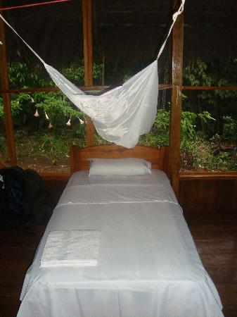 Secoya Lodge: One of the beds in the Eco-lodge