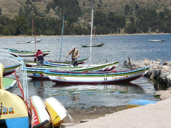 Hotel Rosario Lago Titicaca: Desde el muelle