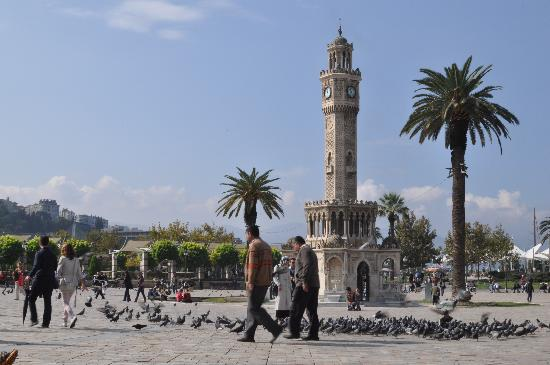 Saat Kulesi (Clock Tower): Tower clock in a sunny morning