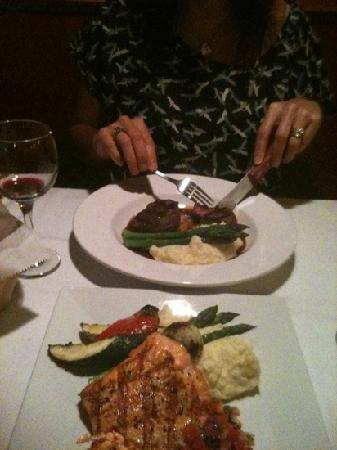 A Table Apart: filet mignon with blue crab foo young. Fabulous meal!