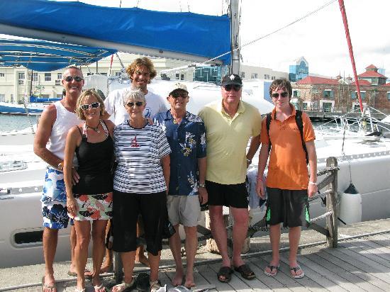 Elegance Catamaran Cruises: Alex and our group!