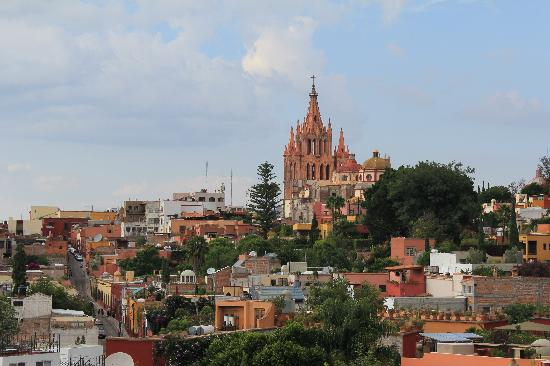 Rosewood San Miguel de Allende: View from the tapas bar upstairs