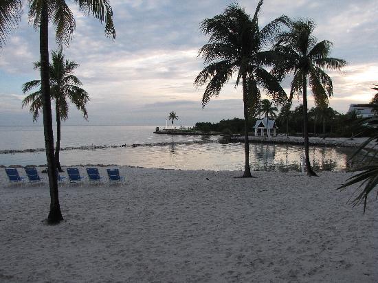 Blick von der Veranda zum Strand und Badebereich