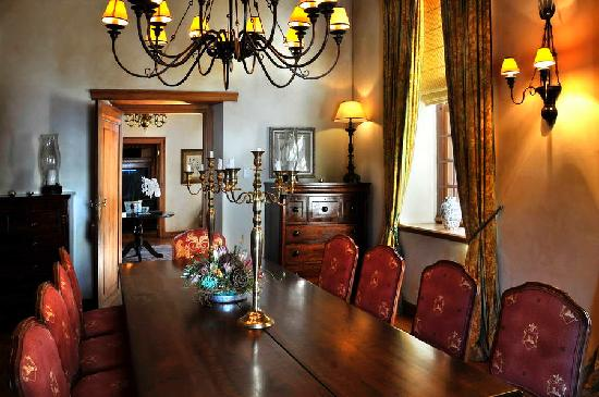 Vrede en Lust Estate: The Manor House dining room