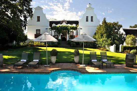 Vrede en Lust Estate: The Manor House as seen from the pool house