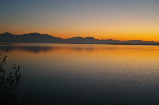 Hotel Malerwinkel: Sonnenuntergang am See