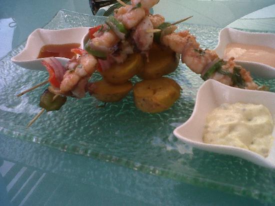 DCO Gourmet Restaurant: Brochette de langostinos y pulpo