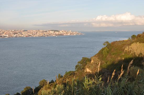 Rio Tejo: view to Tejo and Lisbon from Cristo Rei