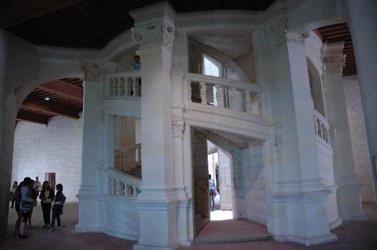 Inside Da Vinci S Spiral Staircase Picture Of Chateau De
