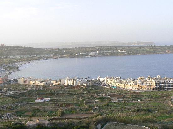 Panorama Hotel : View from Balcony across Mellieha Bay