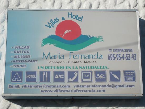 Villas Maria Fernanda: Office sign