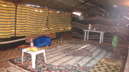 Rum Wonders Camp: Communal tent.