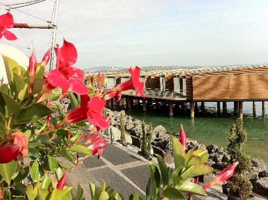 Hotel Palafitte: Blick auf die Pavillons über dem Wasser