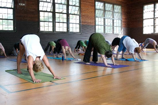Silver Bay YMCA - Conference and Family Retreat Center: Yoga in the Gymnasium at Silver Bay YMCA