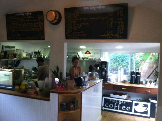 Paia Bay Coffee: View as you walk in the door