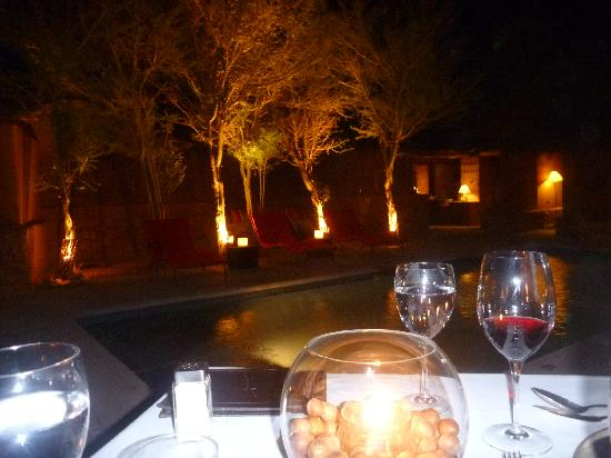 Awasi Atacama - Relais & Chateaux: our private romantic dinner with our firepit by the pool