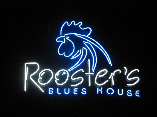 Rooster's Blues House: Neon Sign