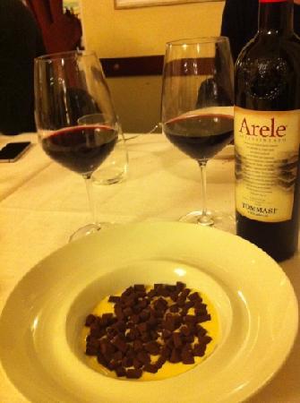 Caffe Dante Bistrot : gnocchetti di cioccolato su salsa di vaniglia