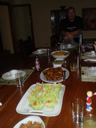 Hotel Casa de Campo Pedasi: Dinner prepared for us.