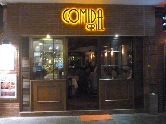 Comida Grill: Entry of the street