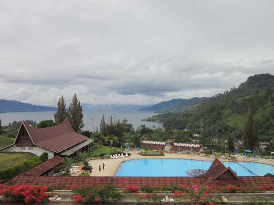 Parapat, Indonesia: View from Hotel Balcony