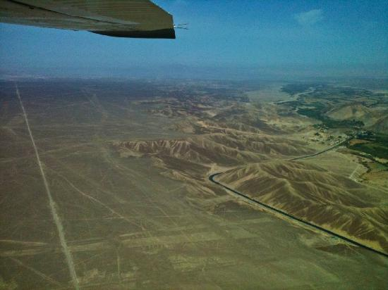 Mystery Peru: Nazca lines, hard to see on photo but was amazing IRL