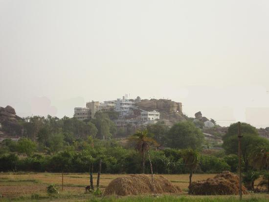 Sri Vidya Saraswathi Shani Temple, Wargal, a view from a distance
