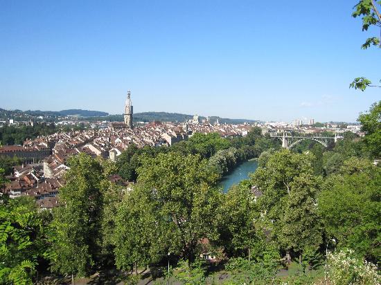 Rose Garden (Rosengarten) : バラ公園からの旧市街の眺め