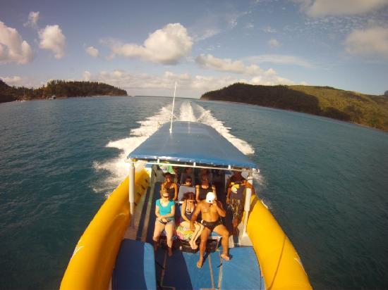 Ocean Rafting: speeding to snorkelling spot