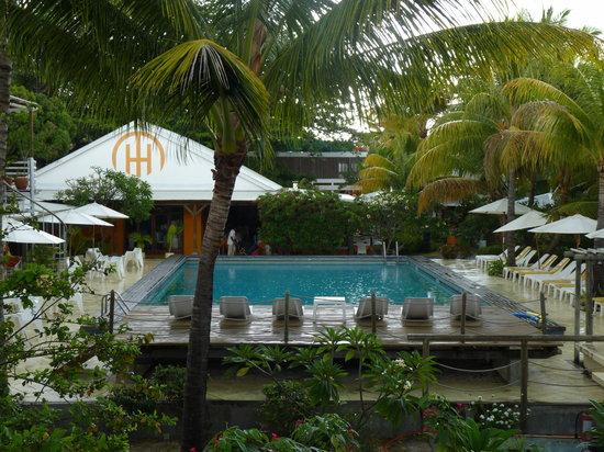 Hotel Tamarin: vue de notre chambre