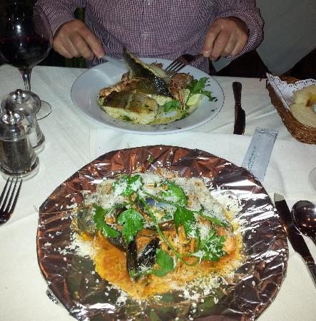Arcadia Restaurant : Seafood Pasta Served in Foil