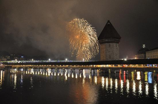 Λουκέρνη, Ελβετία: Lucerna: 1 gennaio 2011 festeggiamenti per il nuovo anno