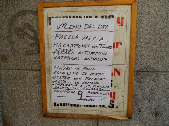 Juli Fer: menu
