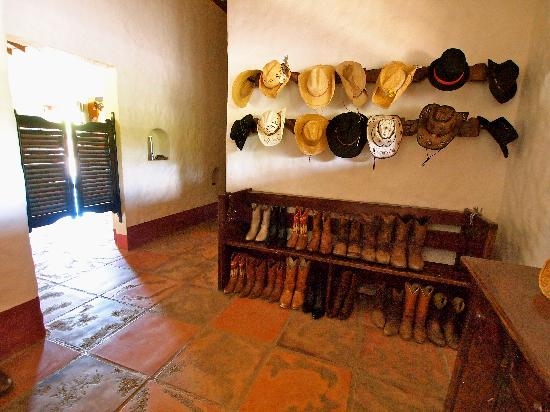 Rancho Chilamate Adventures on Horseback: Rancho Chilamate's Boot Room. Cowboy Up!