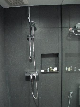 Best Western Plus At 20 Sukhumvit: Shower area in bathroom