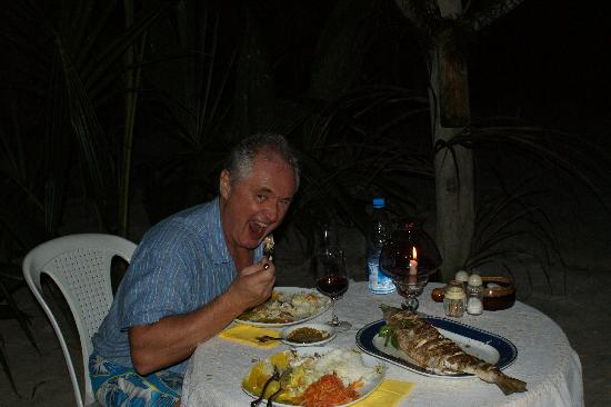Anse-Kerlan Beach Chalets: best meal on the Seychelles!