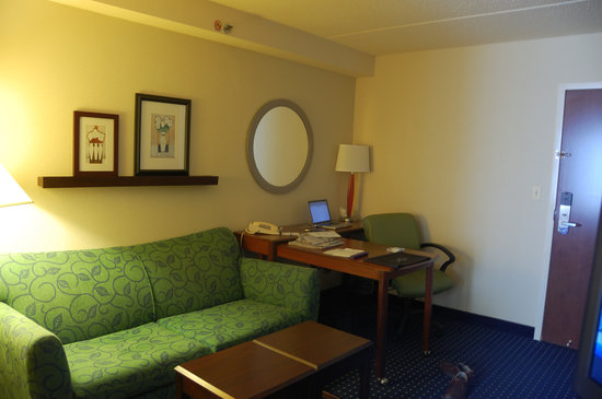 SpringHill Suites Chicago Southwest at Burr Ridge/Hinsdale : Sitting area and pullout sofa
